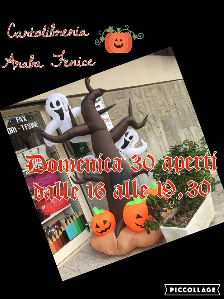 locandina dell'apertura di Domenica 30 Ottobre per Halloween