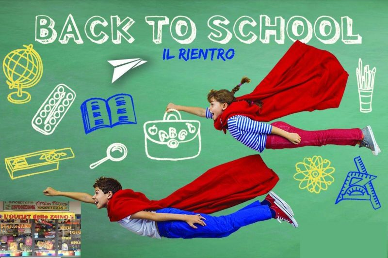 Bambini volano felici verso il rientro a scuola
