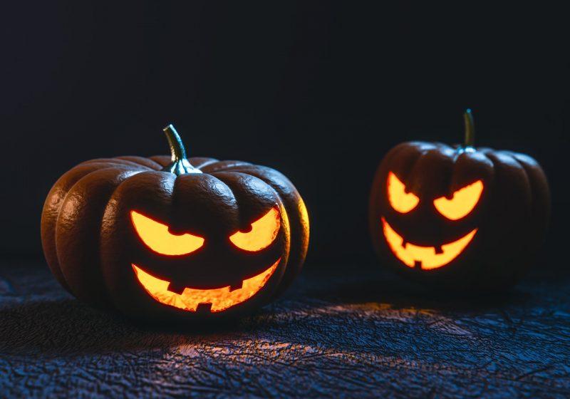 due zucche di halloween